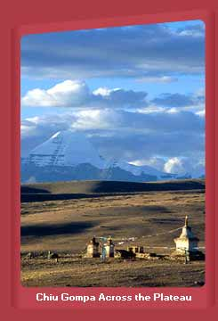 Chiu Gompa Across the Tibetal  Plateau