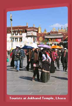 Tourists at Jokhand Temple, Lhasa, Tibet