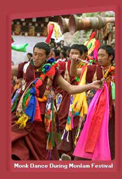 Monk Dance During Monlam Festival