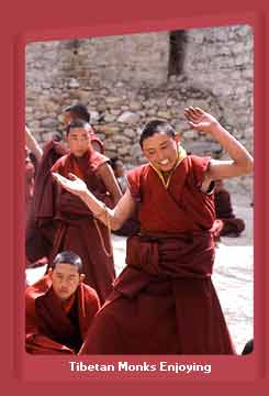 Monks Enjoying